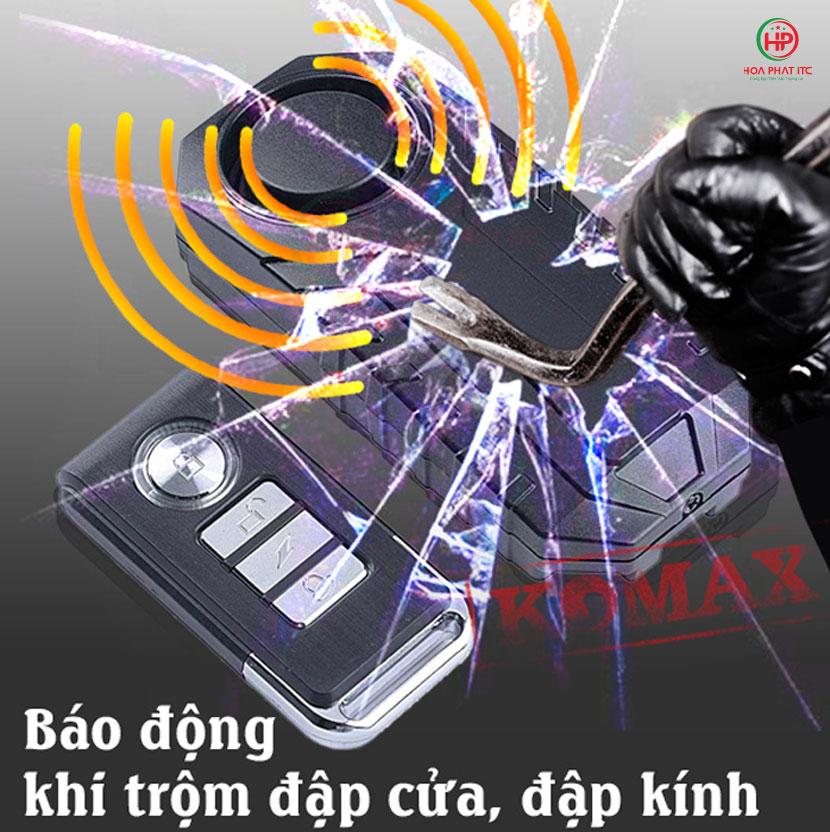 bao trom cam bien rung komax km r16a - Thiết bị chống trộm cảm biến rung kèm remote Komax KM-R16A