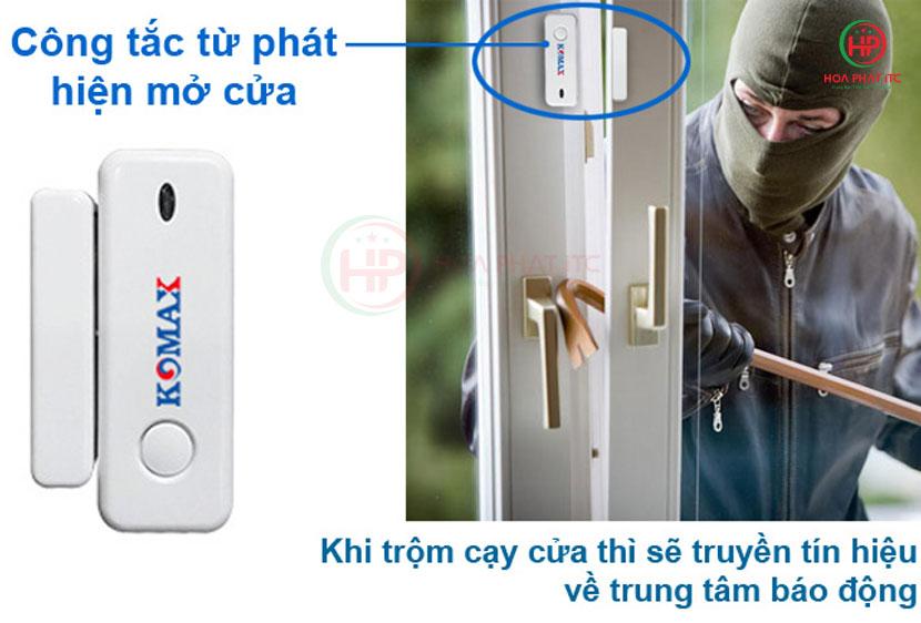 cua tu bo km g20 - Bộ chống trộm trung tâm dùng sim và wifi Komax KM-G20