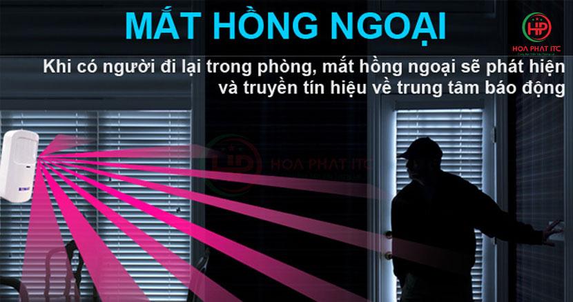 mat hong ngoai bo km g20 - Bộ chống trộm trung tâm dùng sim và wifi Komax KM-G20