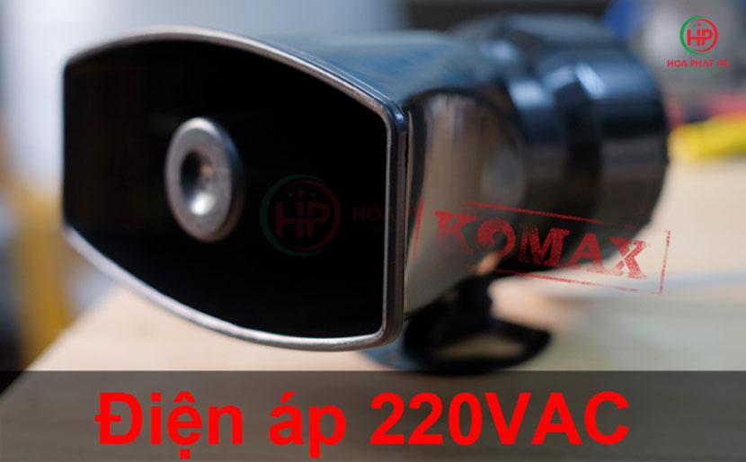 su dung dien ap 220v - Còi hú báo động 220v 60w Komax KM-60WCS âm lượng 200dB