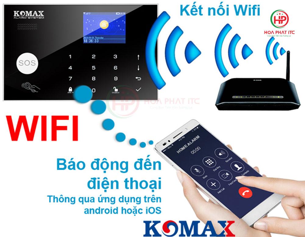 bo chong trom dung sim va wifi komax km g30 - Bộ chống trộm trung tâm dùng sim và wifi Komax KM-G30