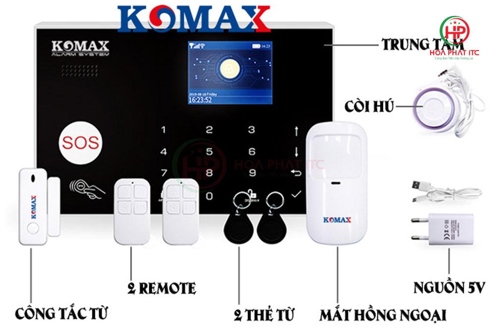 bo chong trom trung tam komax km g30 - Bộ chống trộm trung tâm dùng sim và wifi Komax KM-G30
