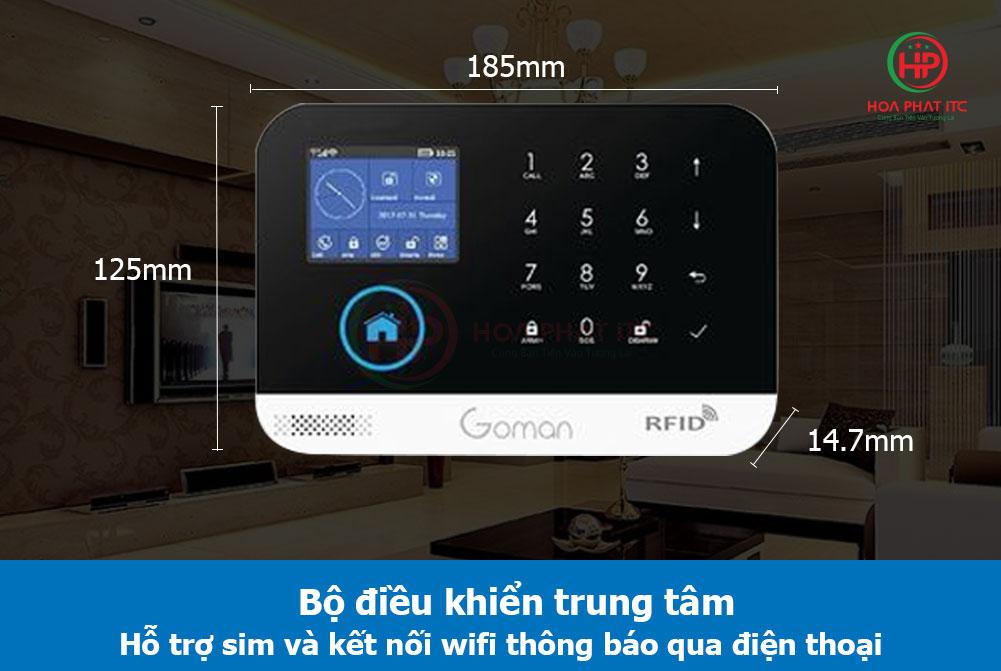 bo dieu kien trung tam - Báo động chống trộm qua điện thoại dùng Sim và Wifi GOMAN GM-SA352W