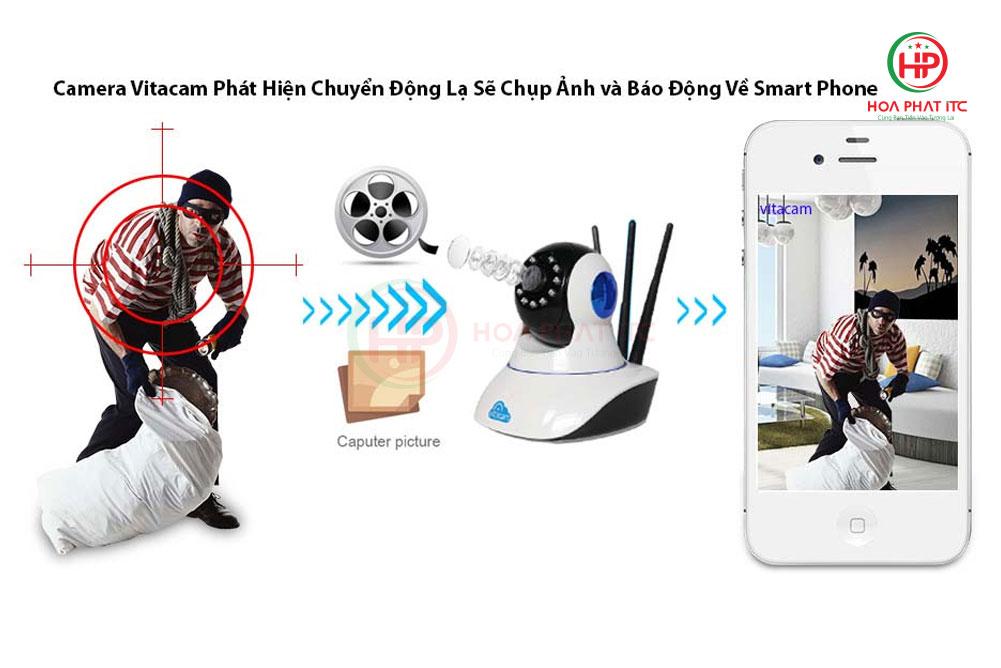 c780 phat hien chuyen dong - Camera Vitacam C780 3MPX siêu nét