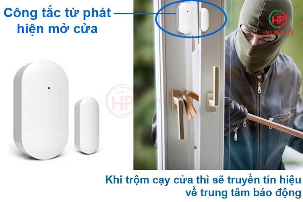 cua tu chong cay cua - Bộ báo động chống trộm qua điện thoại wifi GOMAN GM-SA351