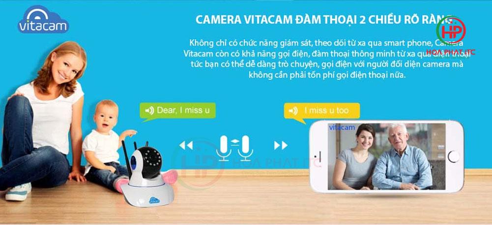 ho tro dam thoai 2 chieu 1 - Camera Vitacam C780 2MPX