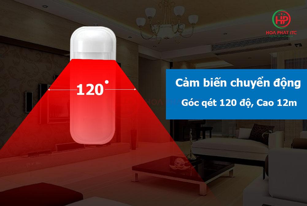 mat cam bien chuyen dong - Báo động chống trộm qua điện thoại dùng Sim và Wifi GOMAN GM-SA352W