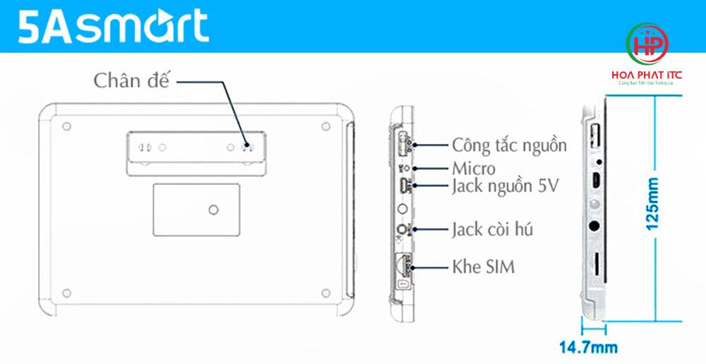 mo phong bo chong trom trung tam 5a smart - Bộ chống trộm trung tâm dùng sim và wifi 5A Smart 5A-F10