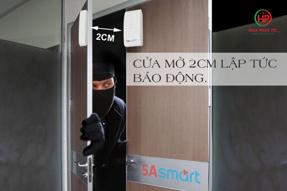 mophong hoat dong cua tu bo chong trom 5a smart - Bộ chống trộm trung tâm dùng sim và wifi 5A Smart 5A-F10