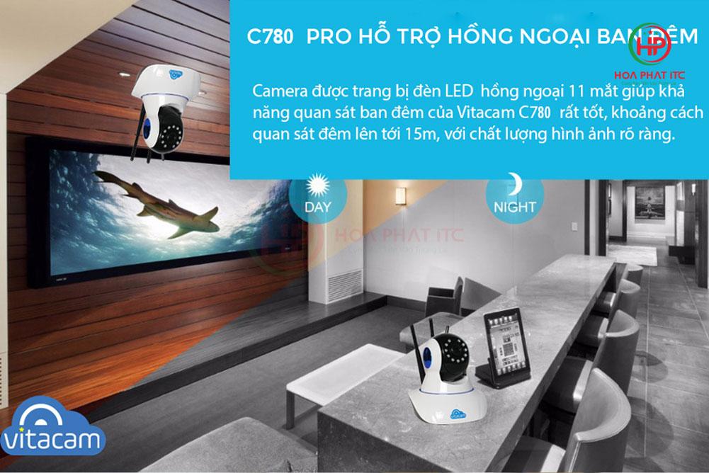 vitacam c780 quan sat ban dem den 15m - Camera Vitacam C780 3MPX siêu nét
