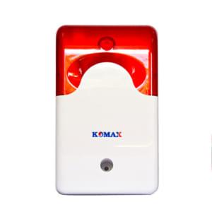Còi hú kèm đèn chớp 220V Komax KM-A09