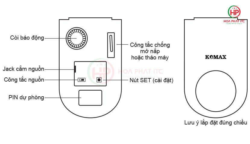 mo ta thiet bi chong trom trung tam komax km t80 - Hướng dẫn sử dụng thiết bị chống trộm trung tâm Komax KM-T80