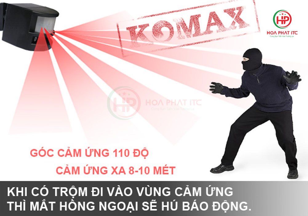 nguyen ly boa dong hong ngoai komax pg 113a - Báo động hồng ngoại 6 kiểu chuông Komax PG-113A