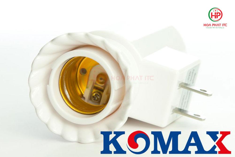 komax km s18 thiet ke dui xoay chuan e27 - Đui đèn cảm biến chuyển động Komax KM-S18 tích hợp phích cắm